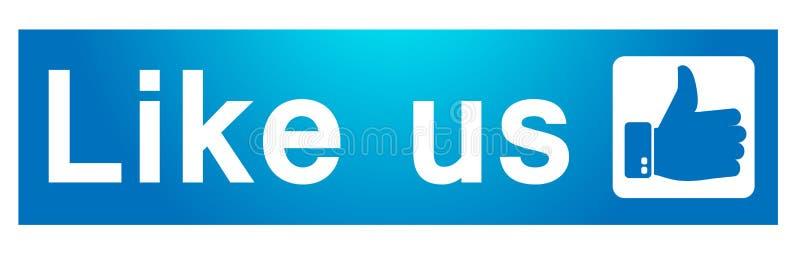 Som oss p? facebookbaner i illustrationlogosymbolen f?r reng?ringsduk vektor illustrationer