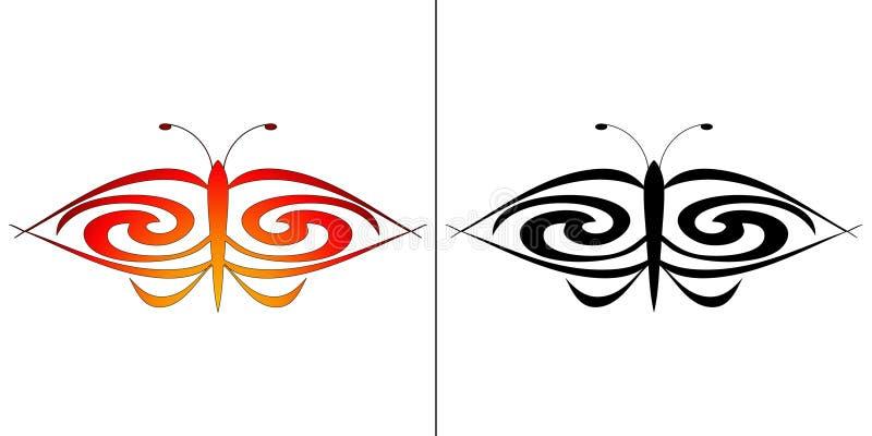som perfekt tatuering för fjäril vektor illustrationer