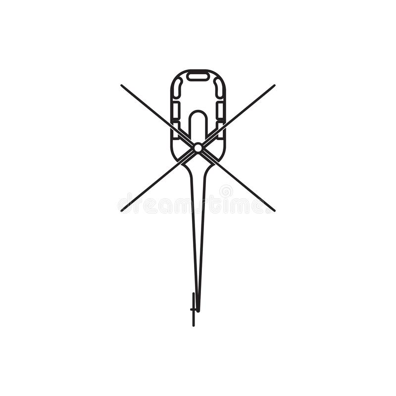 som ?r kan planl?gga den anv?nda logotypen f?r logoen f?r elementhelikoptersymbolen Best?ndsdel av transportsikten fr?n ?ver f?r  vektor illustrationer