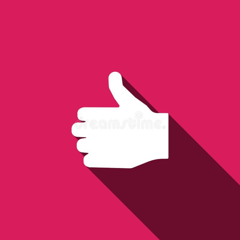 Som symbol Handfingertecken symboltum upp vektor illustrationer
