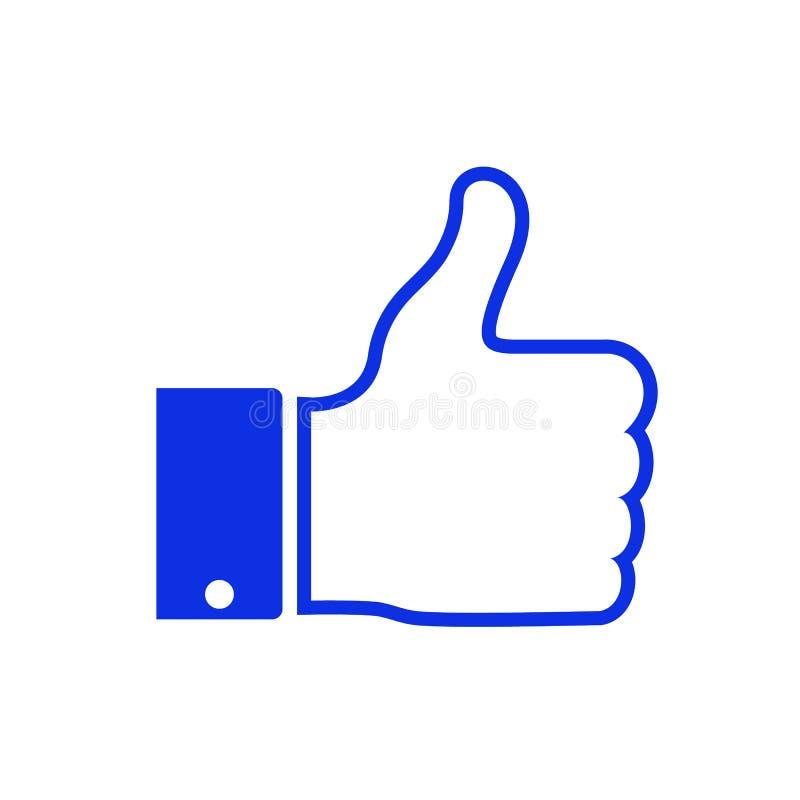 Som symbolsvektor Tummar upp symbol i plan stil Tumme upp symbolet för socialt massmedia, rengöringsduk, mobil app ocks? vektor f vektor illustrationer