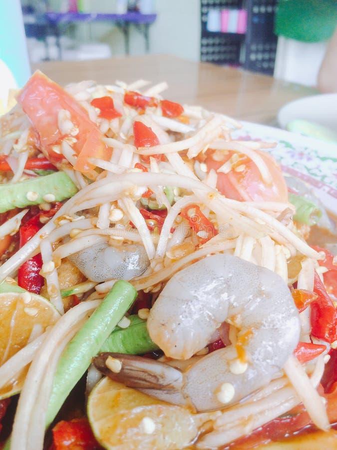 Som Tum or papaya salad royalty free stock image