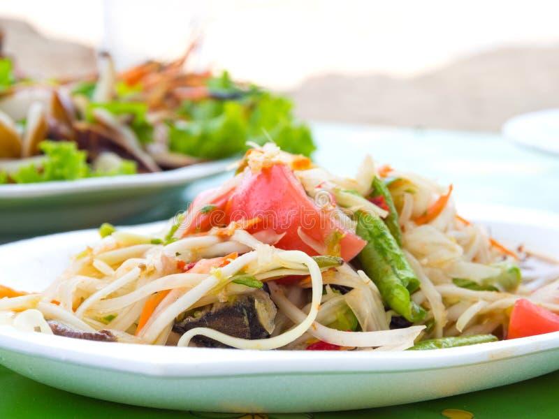 Som Tum. Thai papaya salad also known as Som Tum from Thailand royalty free stock photo