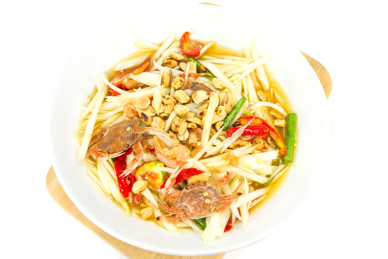 Download Som Tum stock photo. Image of dinner, drinks, salad, close - 33518686