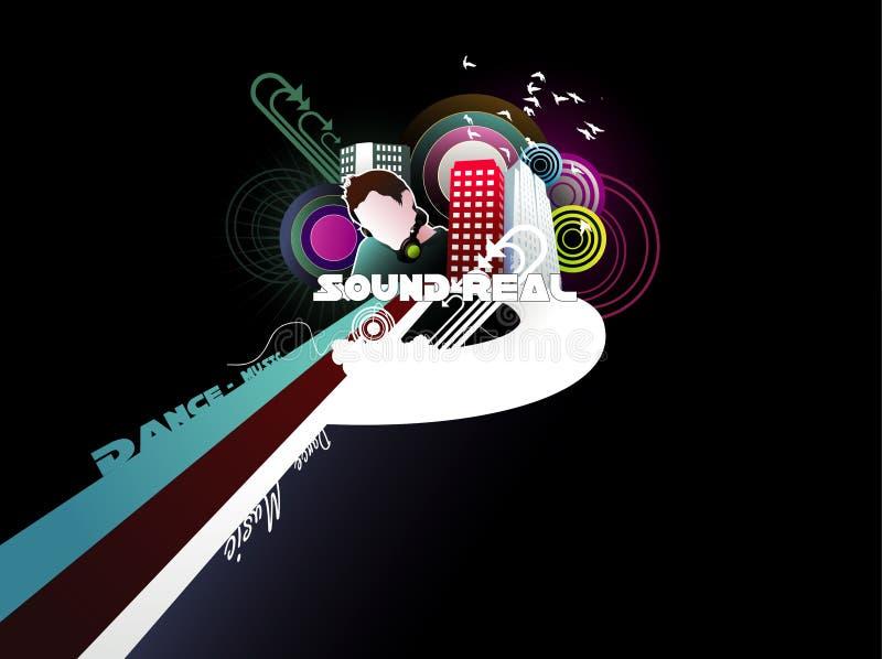 Som urbano da música ilustração do vetor