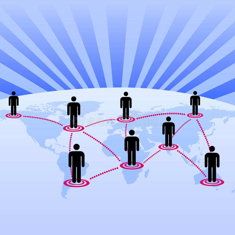 som världen för globalt nätverk för bakgrund