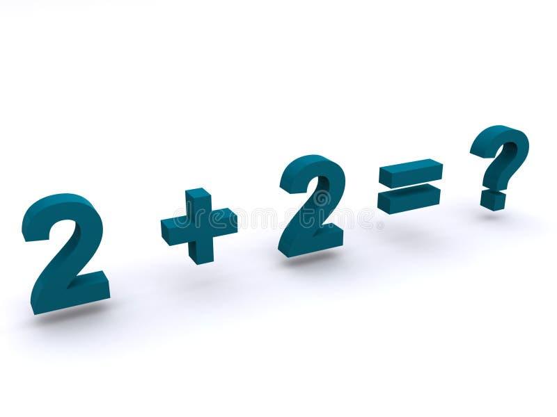 Soma simples da adição das matemáticas ilustração royalty free