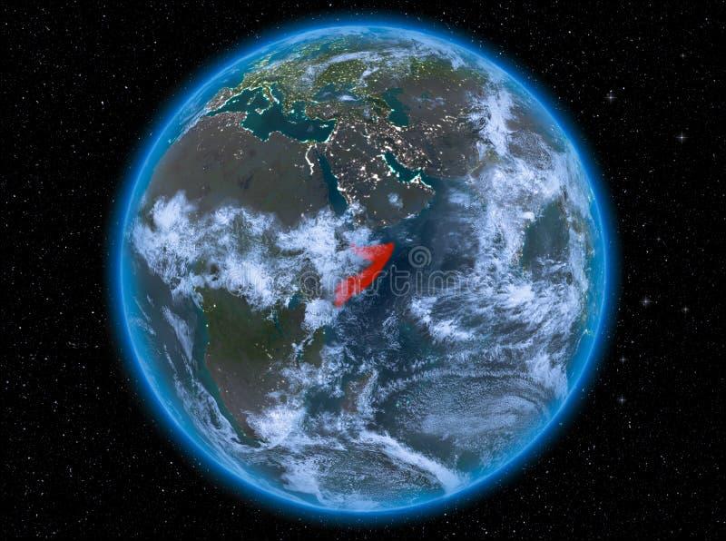 Somalië bij nacht ter wereld stock afbeeldingen