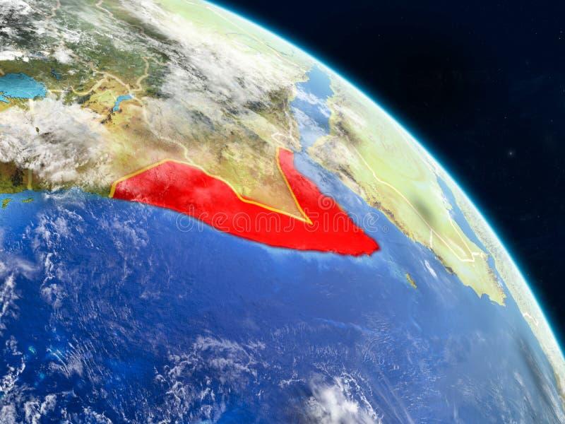 Somalië van ruimte stock illustratie