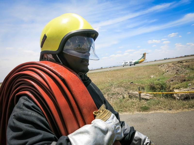 2013_10_04_Somali_ Firefighter_Training_Nairobi_010 royalty free stock photography
