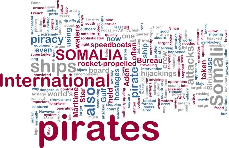somali wordcloud för piratkopiering vektor illustrationer