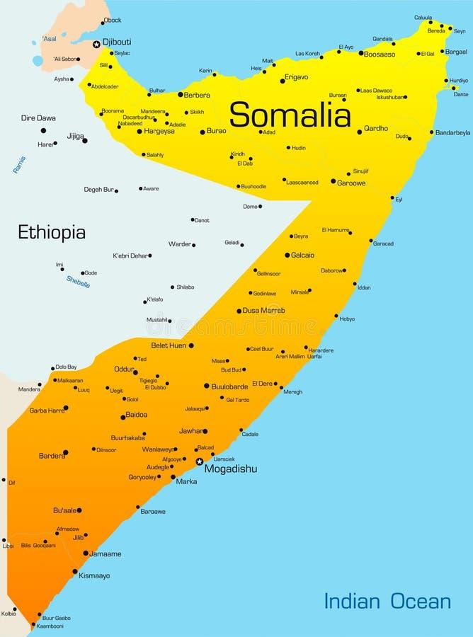 Somalia royaltyfri illustrationer