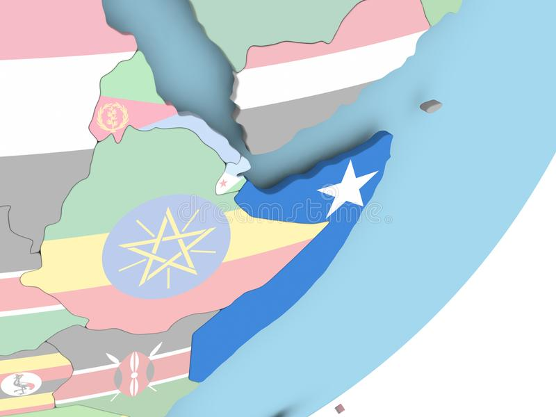 Somalia con la bandera libre illustration