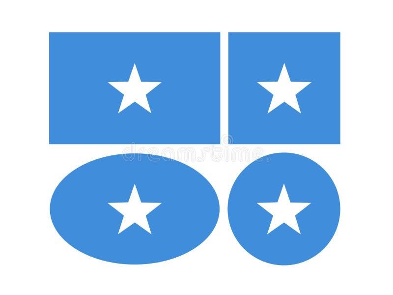 Somalia flaga - Federacyjna republika Somalia royalty ilustracja