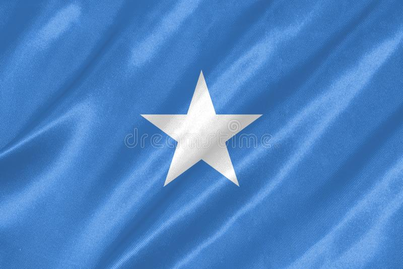 Somalia flagga royaltyfria bilder