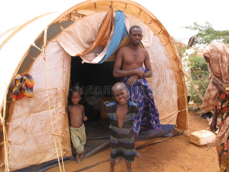 Somalia Hunger Refugee Camp royalty free stock images