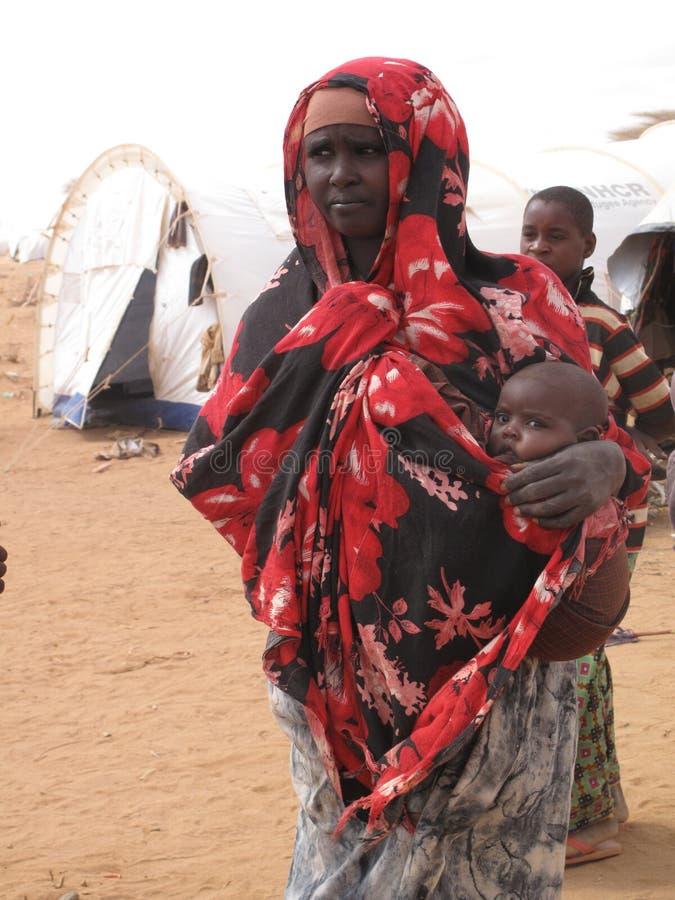 Somalia Hunger Refugee Camp royalty free stock photos