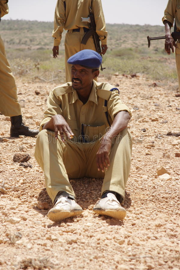 Somalia ist ein Land von Piraten stockfotografie