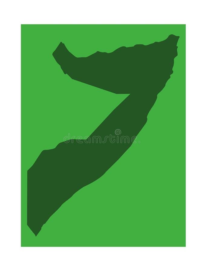Somalia-Karte - souveräner Staat mit seinem Gebiet gelegen im Horn von Afrika lizenzfreie abbildung