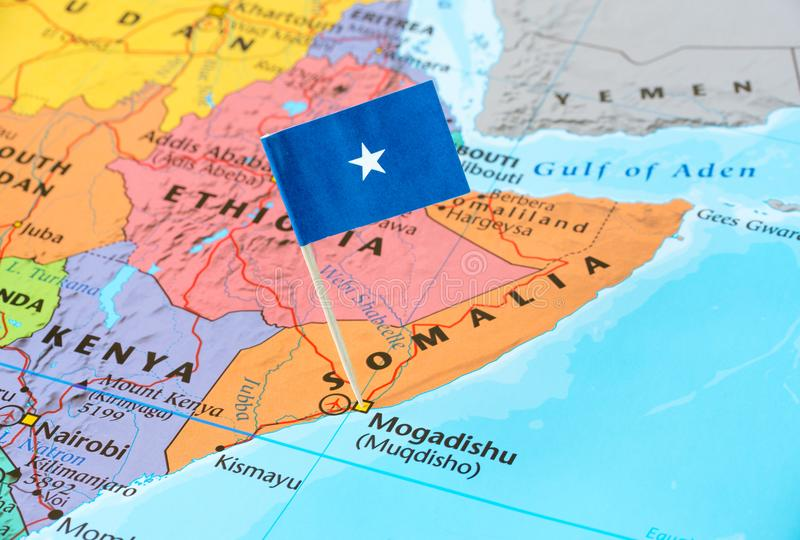 Somalia map and flag pin stock image Image of location 107369041