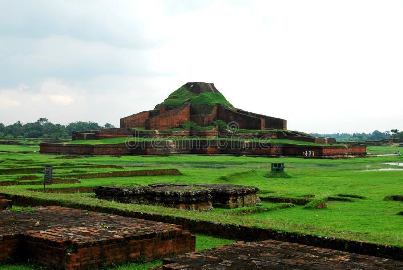 A Close view of Paharpur Bihara Central TempleBangladesh stock image
