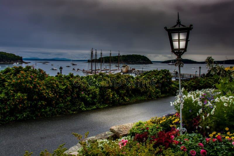 Sombere Barhaven Maine royalty-vrije stock foto's