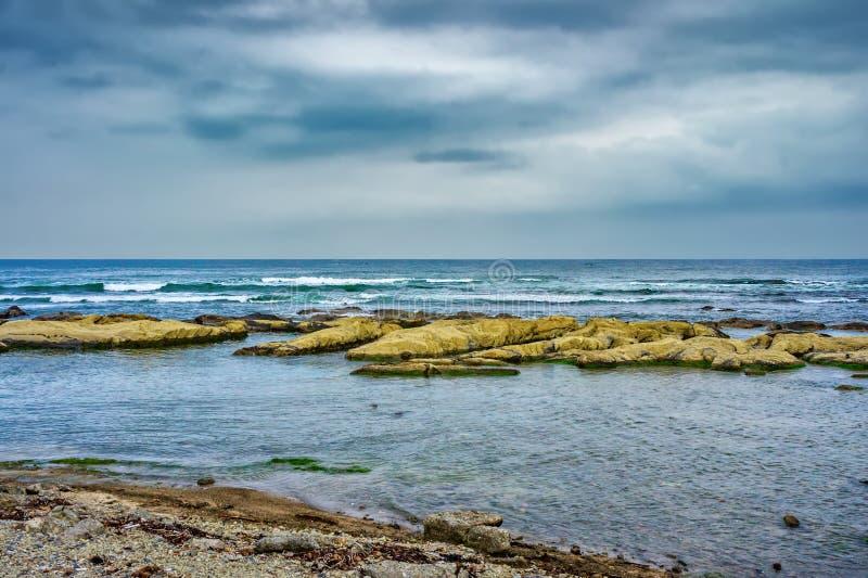 Sombere dag bij de kust van Chiba, Japan stock afbeelding