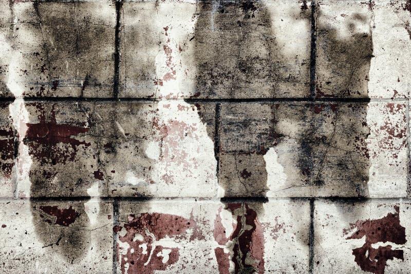 Sombere grungetextuur van oude vuile concrete muur royalty-vrije stock foto