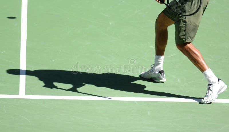 Sombra 20 del tenis fotografía de archivo