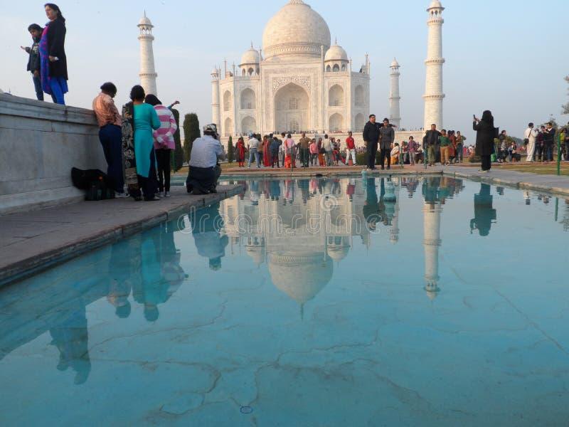 Sombra da água de Taj Mahal imagens de stock royalty free