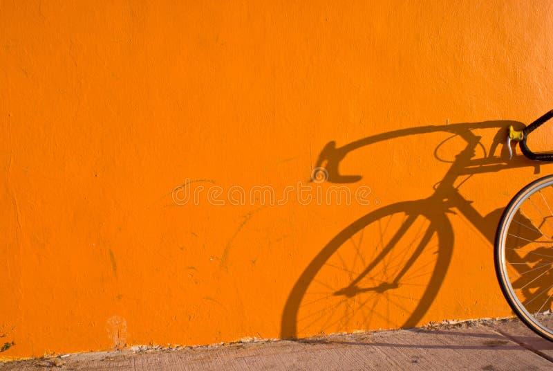 Sombra da bicicleta imagens de stock