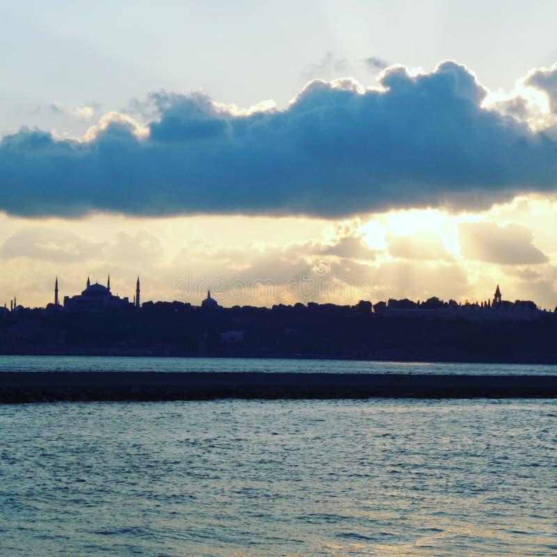 Sombra da cidade Istambul fotografia de stock royalty free