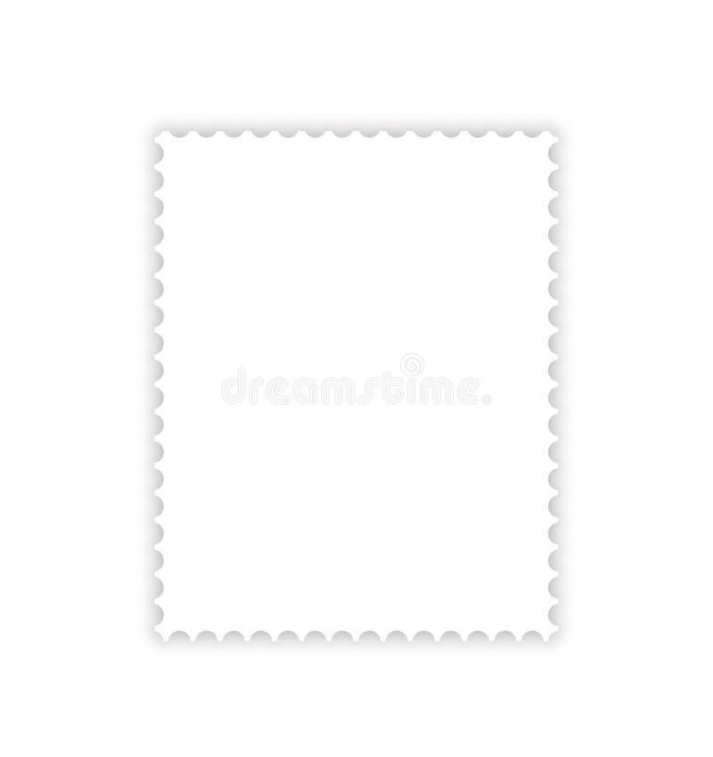 Sombra da gota do selo de porte postal ilustração do vetor