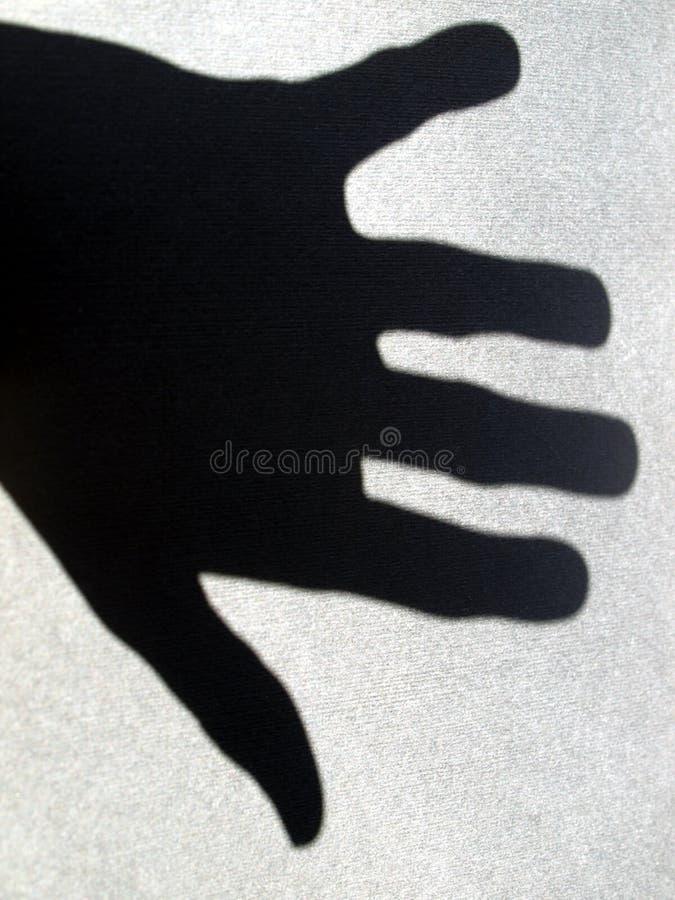 Sombra da mão imagens de stock royalty free
