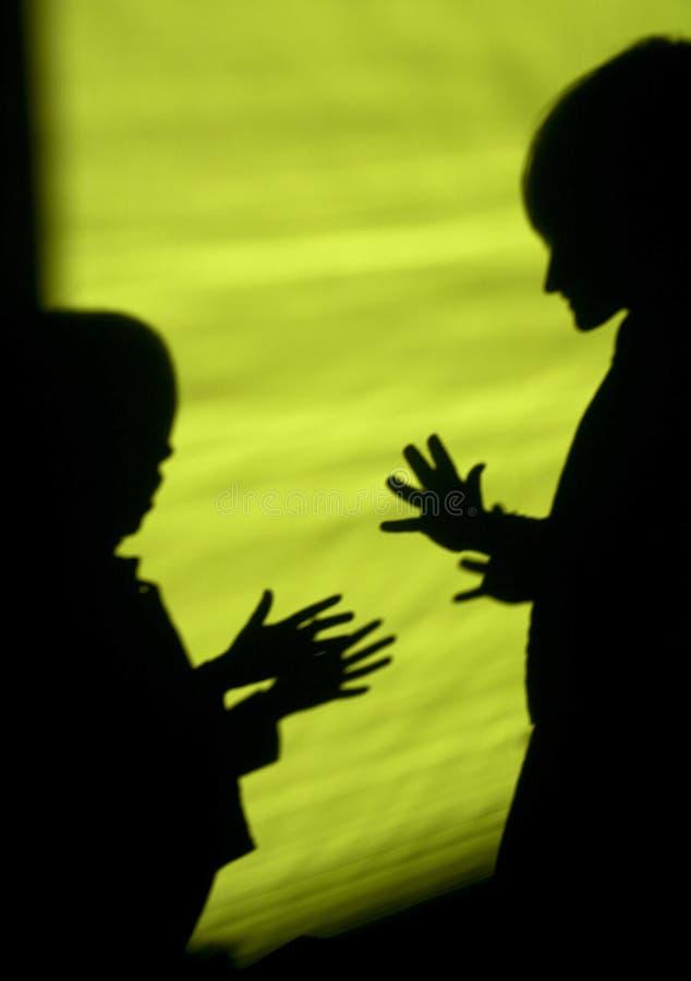 Sombra das crianças pelo discurso foto de stock royalty free