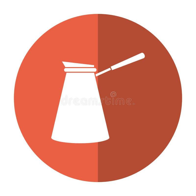 sombra de aço da imagem do potenciômetro do café ilustração do vetor