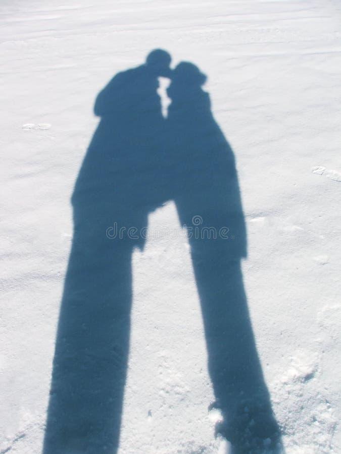 Sombra de amantes imágenes de archivo libres de regalías
