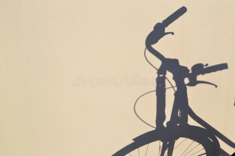 Sombra de la bici fotos de archivo