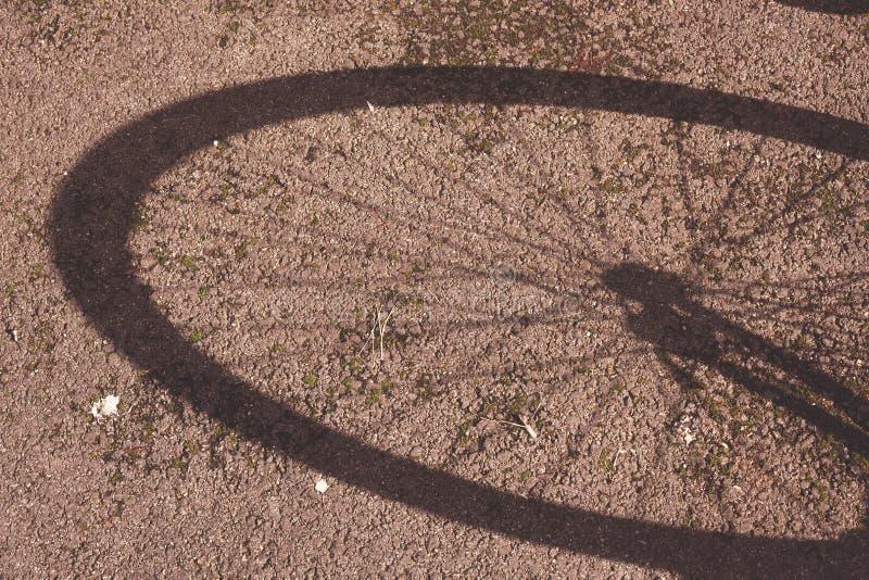 Sombra de la bici foto de archivo