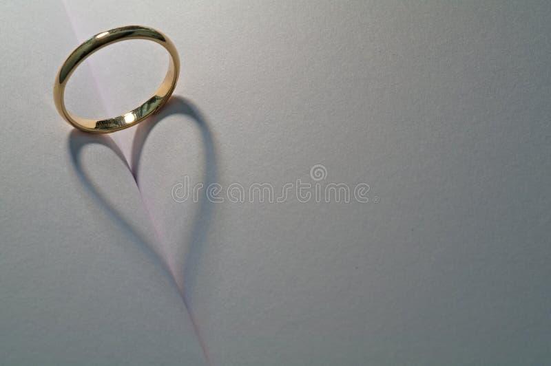 Sombra de la boda fotos de archivo