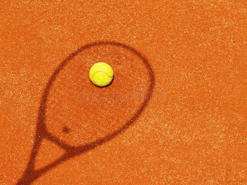Sombra de la estafa de tenis con la bola (55) foto de archivo