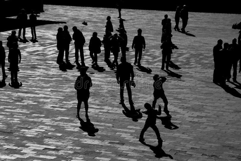 Sombra de la gente foto de archivo