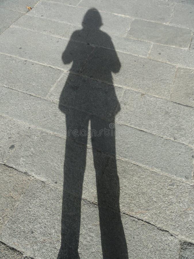 Sombra de la mujer imágenes de archivo libres de regalías