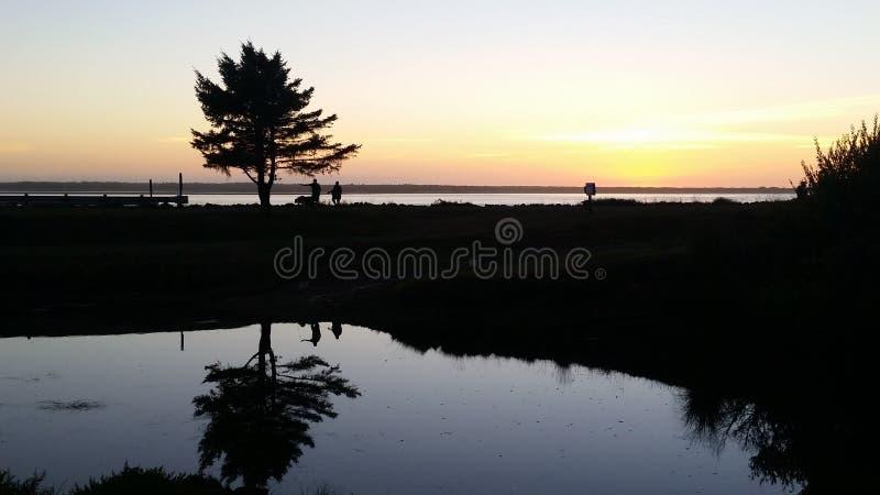 Sombra de la puesta del sol imagen de archivo