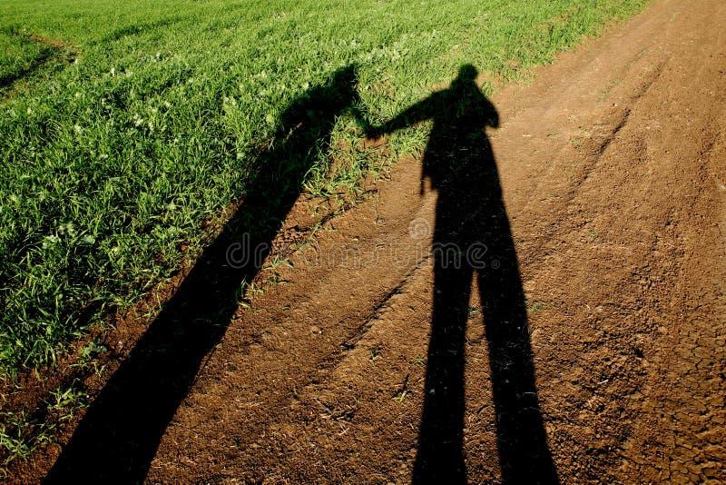Sombra de los amantes imagen de archivo libre de regalías