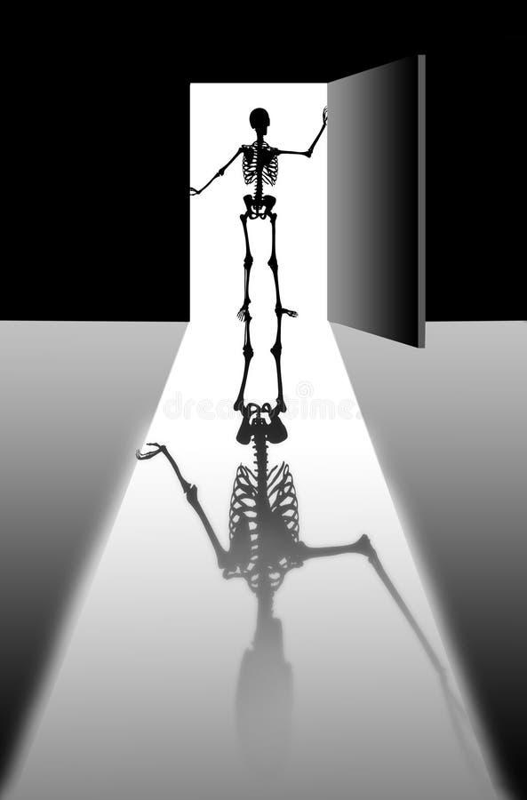 Sombra de morte ilustração stock