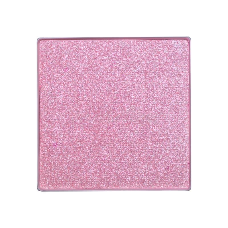 Sombra de ojos rosada aislada en el fondo blanco Una muestra de un producto cosmético foto de archivo