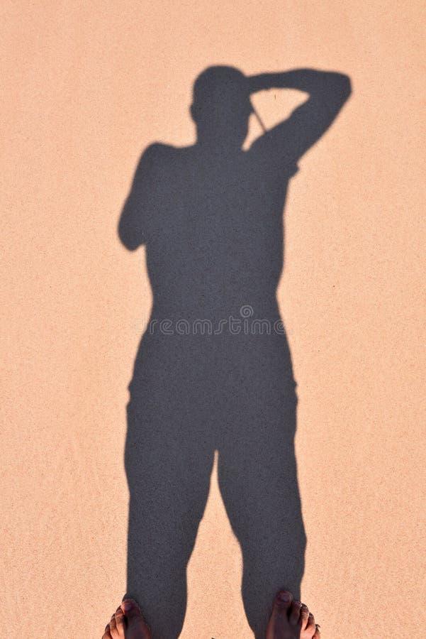 Sombra De Un Hombre Imagen de archivo