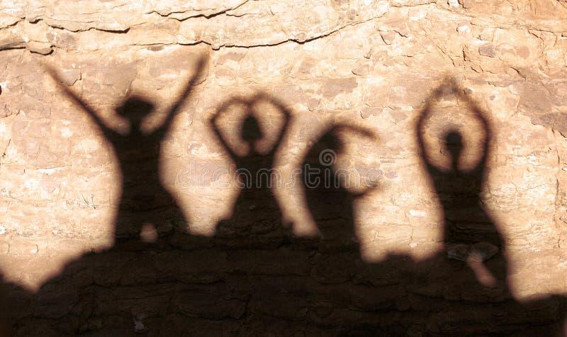 Sombra de YMCA imagens de stock