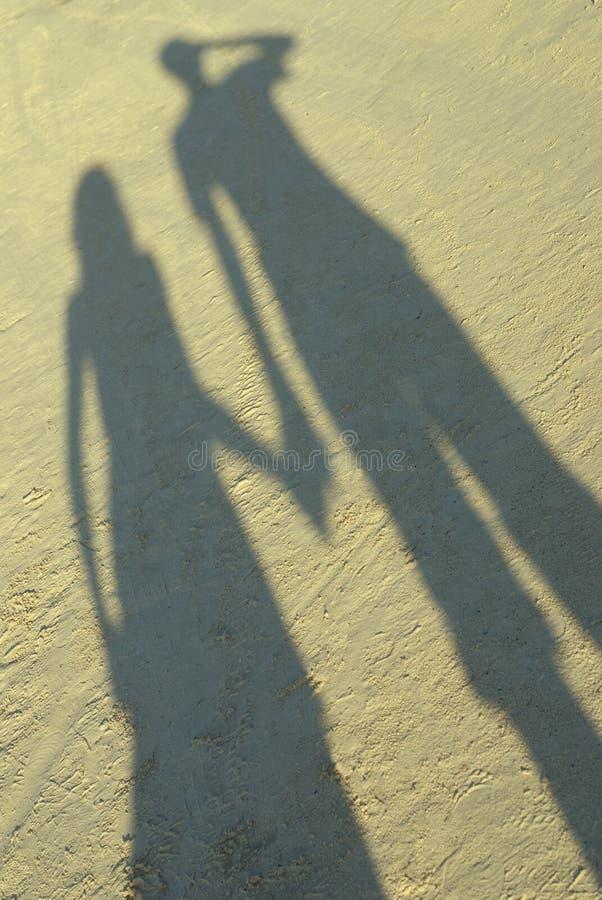Sombra del amor foto de archivo